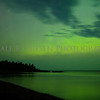 The aurora over  Lake Superior at Agate Beach, Copper Harbor, Michigan