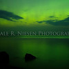 The aurora over  Lake Superior at Hunter's Point, Copper Harbor, Michigan
