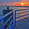 Sunset at Holland State Park, Holland, Michigan (HDR)