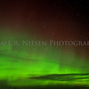 Aurora in the sky above the Straits of Mackinac, Mackinaw City, Michigan