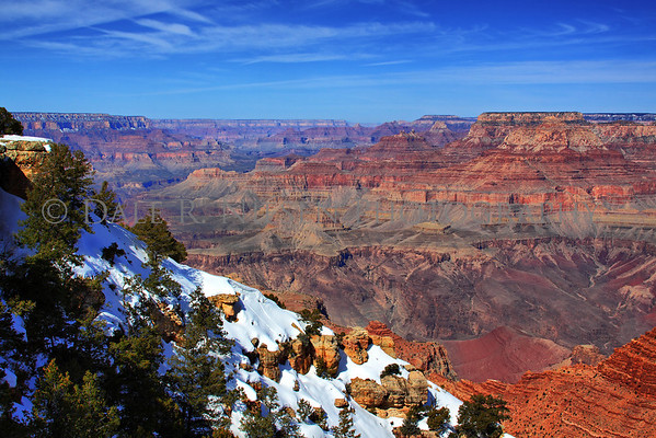 View from Navejo Point, Grand Canyon National Park looking west in the AM. (HDR)
