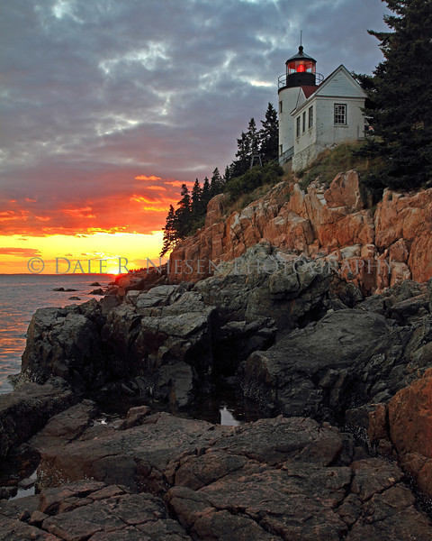 Sunset at the Bass Harbor Lighthouse, Bass Harbor, Maine