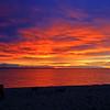 Sunrise at over Lake Huron at Mackinaw City, Michigan