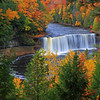 Upper Tahquamenon Falls located near Paradise, Michigan 10/15/2015.